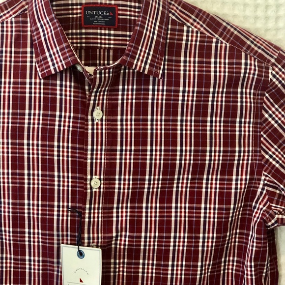 UNTUCKit Other - NWT UNTUCKit Wrinkle Free Slim Fit Red Plaid Shirt
